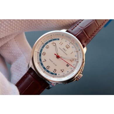 Fake IWC Portuguese Automatic Yacht Club White Dial Red Hand WJ00603