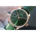 Fake IWC YLF Portuguese IW5242 Green Dial Gold Makers WJ00498
