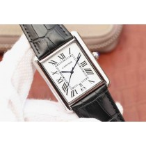 Knockoff Cartier Tank White Dial Brown Leather Strap WJ00429